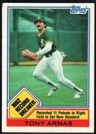 1983 Topps #1 Tony Armas RB VG Oakland Athletics