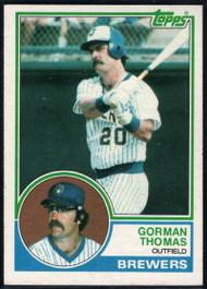 1983 Topps #10 Gorman Thomas VG Milwaukee Brewers