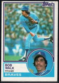 1983 Topps #104 Bob Walk VG Atlanta Braves