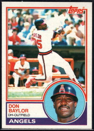 1983 Topps #105 Don Baylor VG California Angels