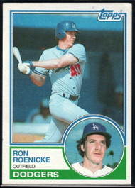 1983 Topps #113 Ron Roenicke VG Los Angeles Dodgers