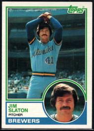 1983 Topps #114 Jim Slaton VG Milwaukee Brewers