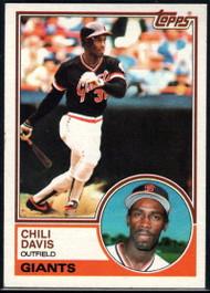 1983 Topps #115 Chili Davis VG San Francisco Giants