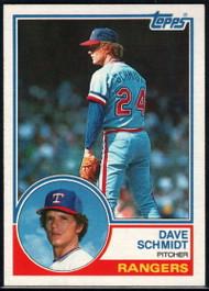 1983 Topps #116 Dave Schmidt VG Texas Rangers