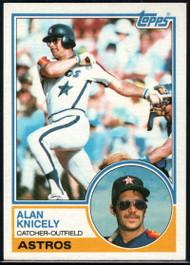 1983 Topps #117 Alan Knicely VG Houston Astros