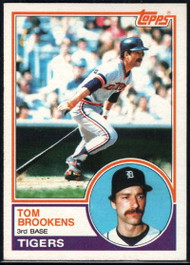 1983 Topps #119 Tom Brookens VG Detroit Tigers