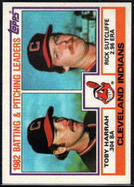 1983 Topps #141 Toby Harrah/Rick Sutcliffe Indians Batting & Pitching Leaders VG Cleveland Indians