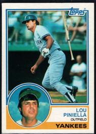 1983 Topps #307 Lou Piniella VG New York Yankees