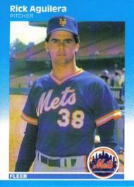 1987 Fleer #1 Rick Aguilera NM New York Mets