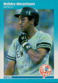 1987 Fleer #105 Bobby Meacham NM New York Yankees