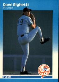1987 Fleer #111 Dave Righetti NM New York Yankees