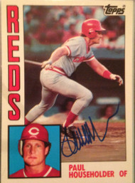 Paul Householder Autographed 1984 Topps Tiffany #214
