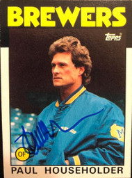 Paul Householder Autographed 1986 Topps #554