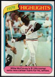 1980 Topps #2 Willie McCovey HL VG San Francisco Giants