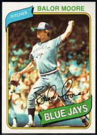 1980 Topps #19 Balor Moore VG Toronto Blue Jays