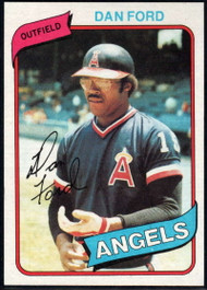 1980 Topps #20 Dan Ford VG California Angels