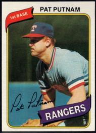1980 Topps #22 Pat Putnam VG Texas Rangers