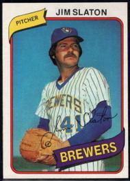 1980 Topps #24 Jim Slaton VG Milwaukee Brewers