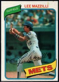 1980 Topps #25 Lee Mazzilli VG New York Mets