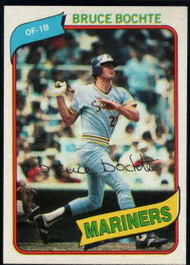 1980 Topps #143 Bruce Bochte DP VG Seattle Mariners