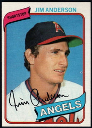 1980 Topps #183 Jim Anderson DP VG California Angels