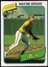 1980 Topps #363 Wayne Gross VG Oakland Athletics