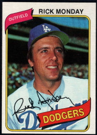 1980 Topps #465 Rick Monday VG Los Angeles Dodgers