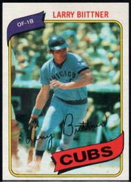 1980 Topps #639 Larry Biittner VG Chicago Cubs