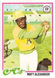 1978 Topps #102 Matt Alexander VG Oakland Athletics