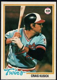 1978 Topps #137 Craig Kusick COND Minnesota Twins
