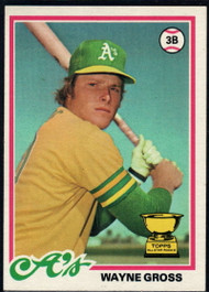 1978 Topps #139 Wayne Gross COND Oakland Athletics