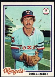1978 Topps #146 Doyle Alexander COND Texas Rangers