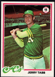 1978 Topps #224 Jerry Tabb COND RC Rookie Oakland Athletics