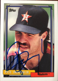 Pete Incaviglia Autographed 1992 Topps Traded #54T