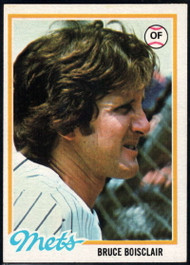 1978 Topps #277 Bruce Boisclair COND New York Mets
