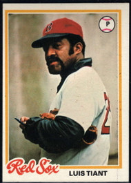 1978 Topps #345 Luis Tiant COND Boston Red Sox