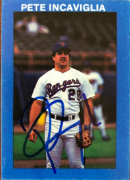 Pete Incaviglia Autographed 1987 Big Apple Trading Card Co.