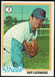 1978 Topps #379 Skip Lockwood COND New York Mets