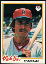 1978 Topps #482 Rick Miller COND Boston Red Sox