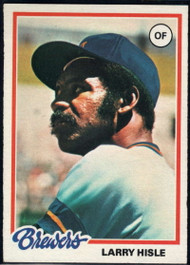 1978 Topps #520 Larry Hisle COND Milwaukee Brewers