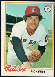 1978 Topps #572 Rick Wise COND Boston Red Sox