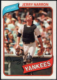 1980 Topps #16 Jerry Narron VG RC Rookie New York Yankees