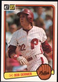 1983 Donruss #189 Bob Dernier VG Philadelphia Phillies