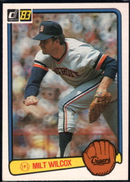 1983 Donruss #155 Milt Wilcox VG Detroit Tigers