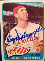 Clay Dalrymple Autographed 1965 Topps #372