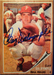 Clay Dalrymple Autographed 1962 Topps #434