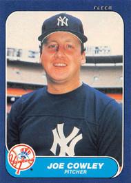 1986 Fleer #103 Joe Cowley VG New York Yankees