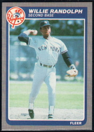 1985 Fleer #140 Willie Randolph VG New York Yankees