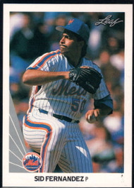 1990 Leaf #66 Sid Fernandez VG New York Mets