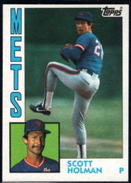 1984 Topps #13 Scott Holman VG New York Mets